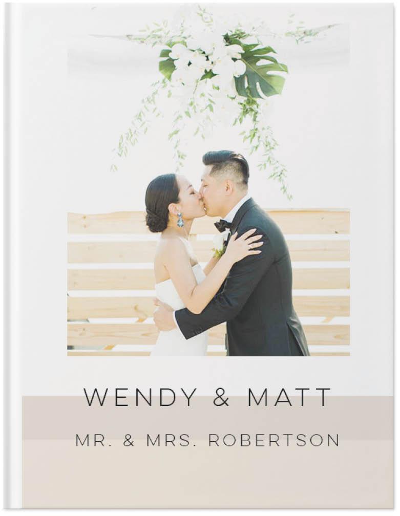 modern wedding story photo book