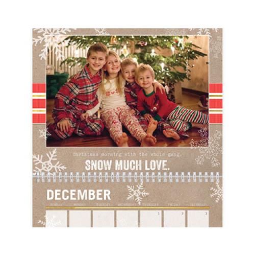 krafted seasons wall calendar