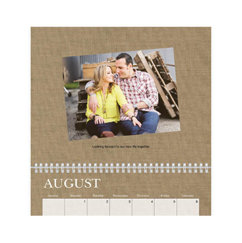 textures and elements wall calendar