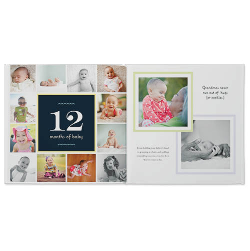 babys first year photo book