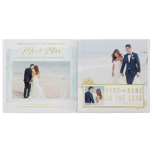 beach wedding photo book