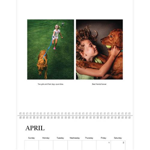 classic white wall calendar