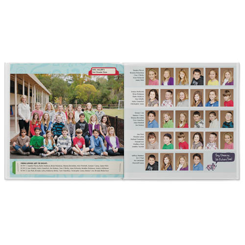 elementary school yearbook photo book
