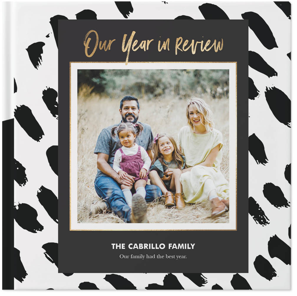 bold year in review by float paperie photo book