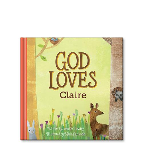 god loves you personalized story book