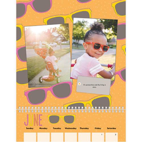 seasonal patterns wall calendar