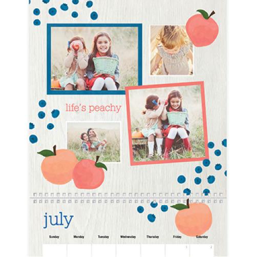 seasonal produce wall calendar