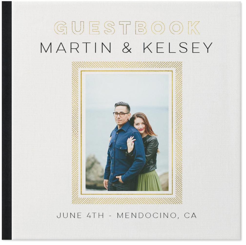 gilded wedding guestbook photo book
