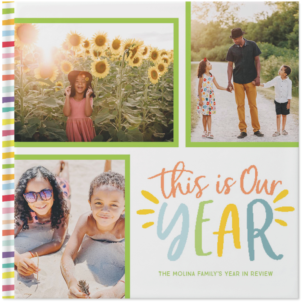 colorful year in review by sarah hawkins designs photo book