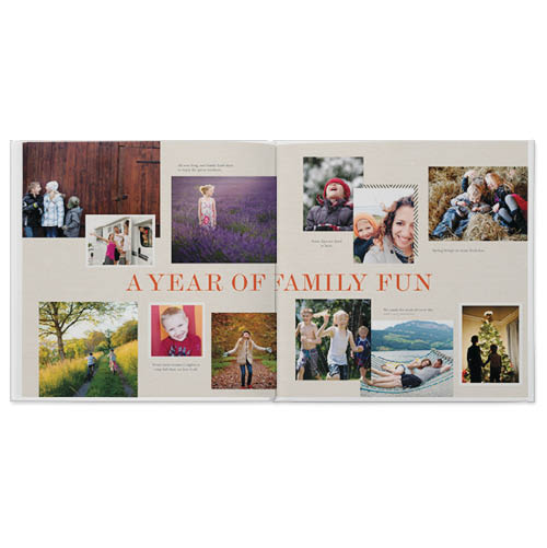 year of happy photo book